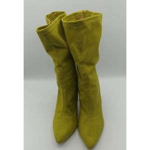 Public Desire Sock Booties Spring Green 9